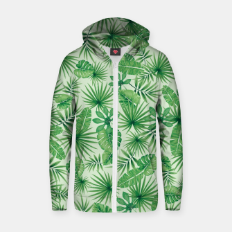 Thumbnail image of Tropical Floral Botanical Jungle Leaf Plants Nature Pattern Zip up hoodie, Live Heroes