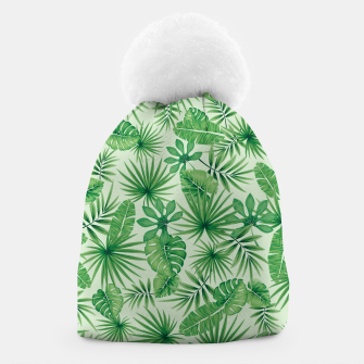 Thumbnail image of Tropical Floral Botanical Jungle Leaf Plants Nature Pattern Beanie, Live Heroes