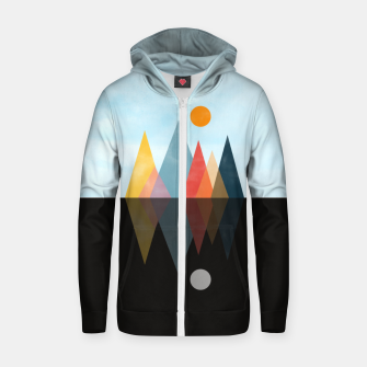 Thumbnail image of Day and Night Zip up hoodie, Live Heroes