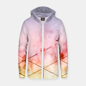 Thumbnail image of Make Triangles Zip up hoodie, Live Heroes