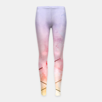 Thumbnail image of Make Triangles Girl's leggings, Live Heroes