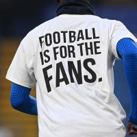 football is for the fans logo