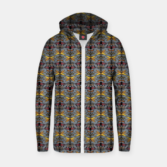 Thumbnail image of Ethnic flower style  Sudadera con capucha y cremallera , Live Heroes