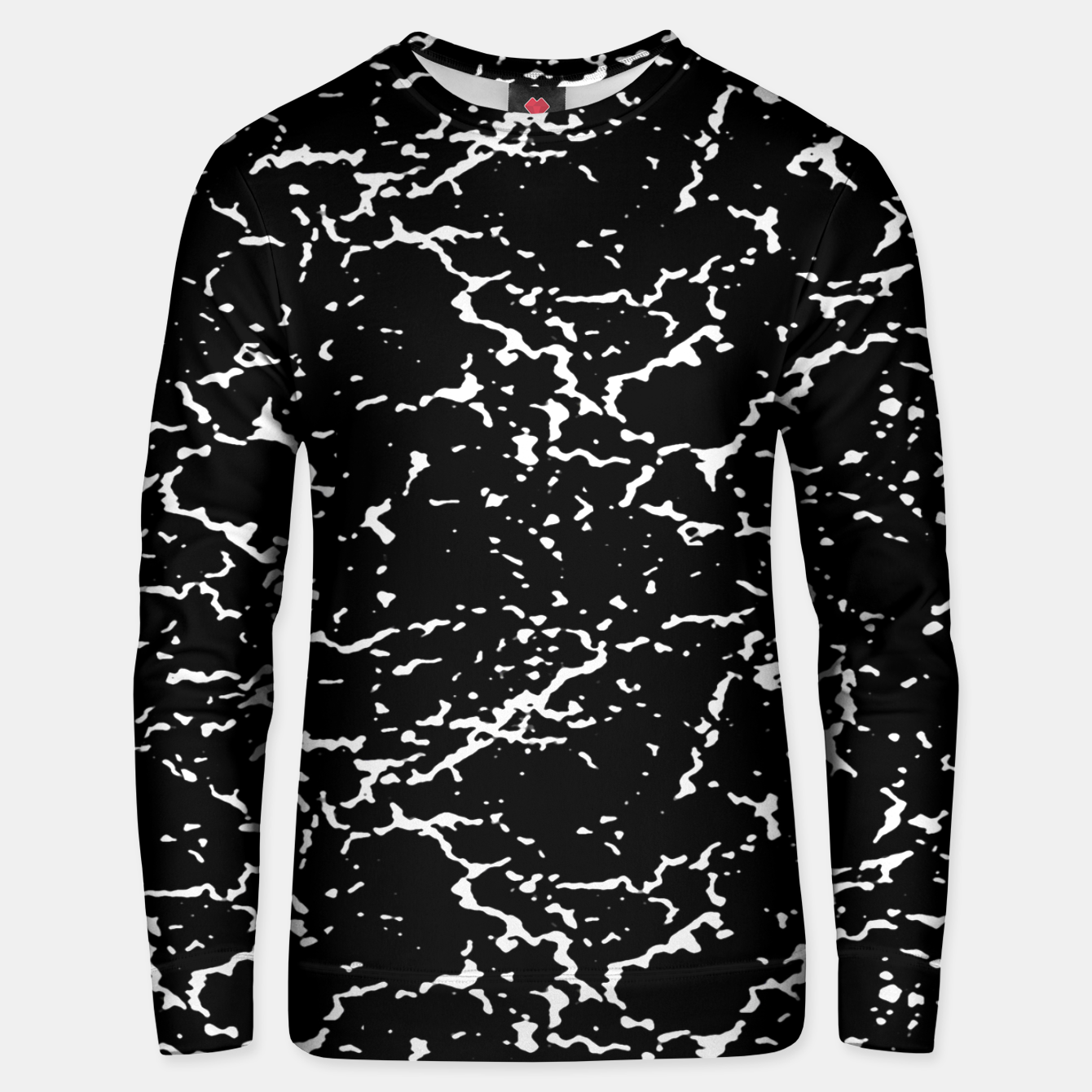 Image of Black and White Grunge Abstract Print Unisex sweater - Live Heroes