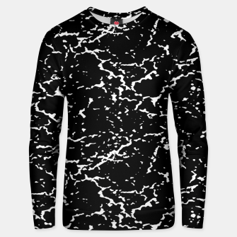 Black and White Grunge Abstract Print Unisex sweater thumbnail image