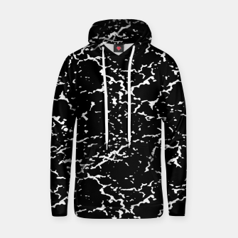 Black and White Grunge Abstract Print Hoodie thumbnail image