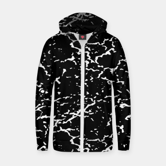Thumbnail image of Black and White Grunge Abstract Print Zip up hoodie, Live Heroes