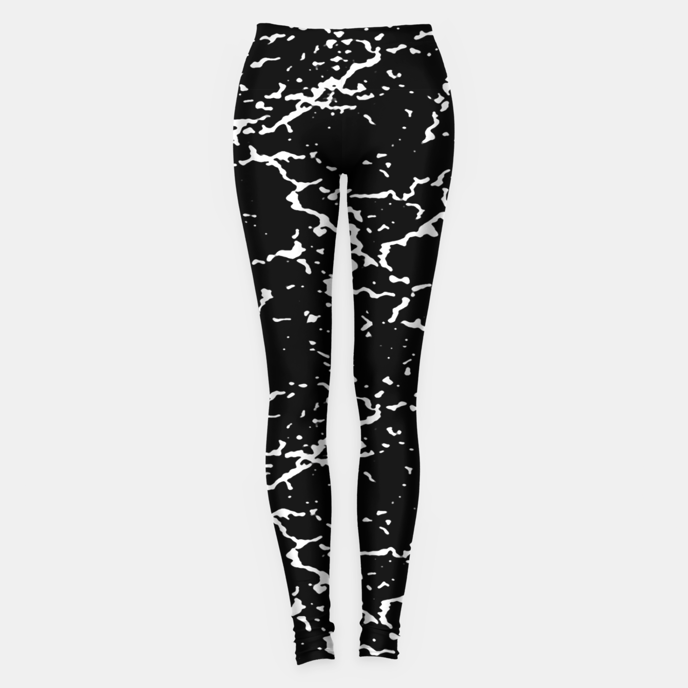 Image of Black and White Grunge Abstract Print Leggings - Live Heroes
