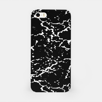 Black and White Grunge Abstract Print iPhone Case thumbnail image