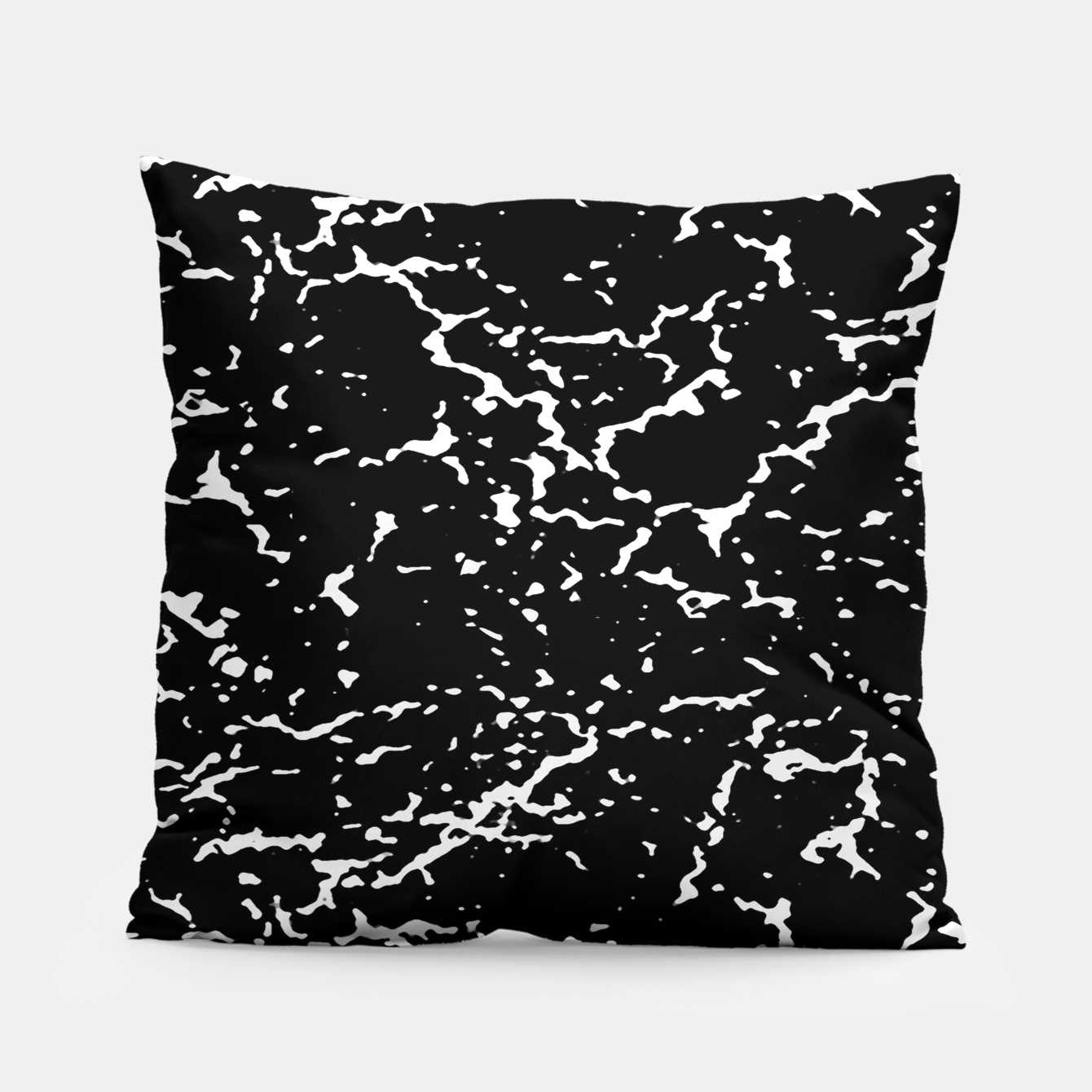 Image of Black and White Grunge Abstract Print Pillow - Live Heroes
