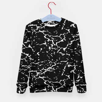 Black and White Grunge Abstract Print Kid's sweater thumbnail image