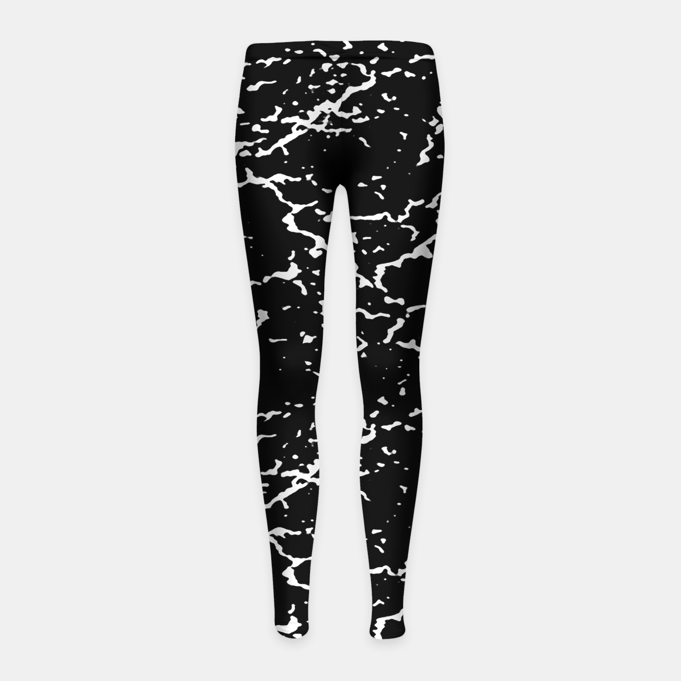 Image of Black and White Grunge Abstract Print Girl's leggings - Live Heroes