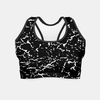 Black and White Grunge Abstract Print Crop Top thumbnail image