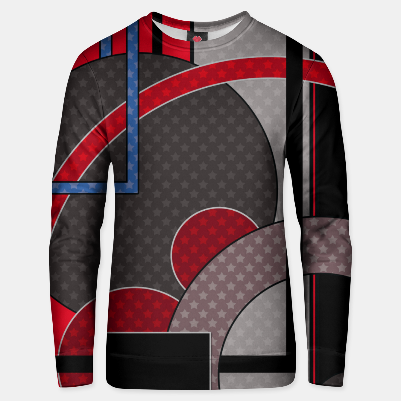 Image of Black and red abstract painting Unisex sweater - Live Heroes