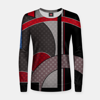 Thumbnail image of Black and red abstract painting Women sweater, Live Heroes