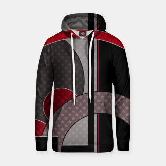 Thumbnail image of Black and red abstract painting Hoodie, Live Heroes