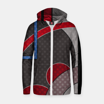 Thumbnail image of Black and red abstract painting Zip up hoodie, Live Heroes