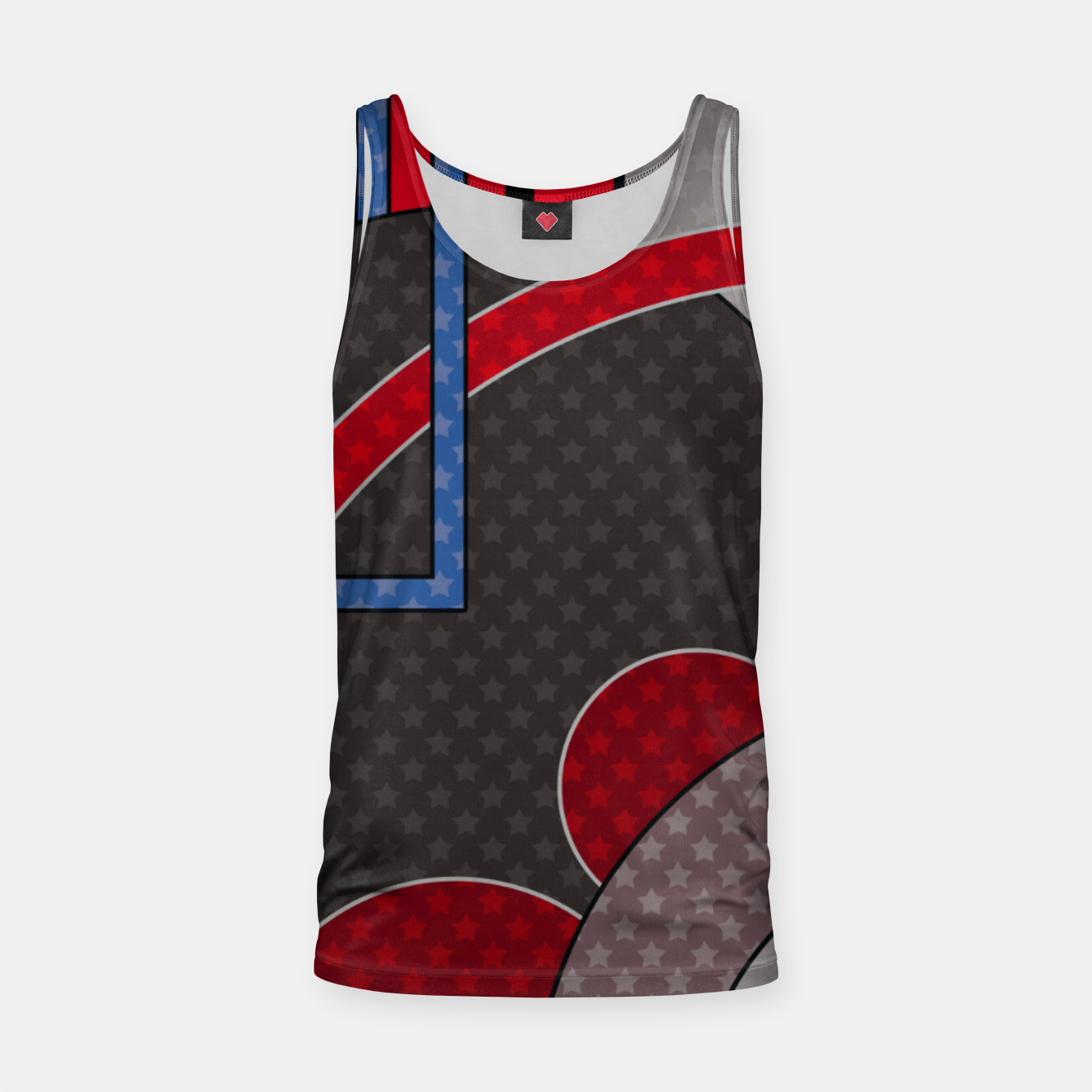 Image of Black and red abstract painting Tank Top - Live Heroes