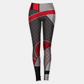 Thumbnail image of Black and red abstract painting Leggings, Live Heroes