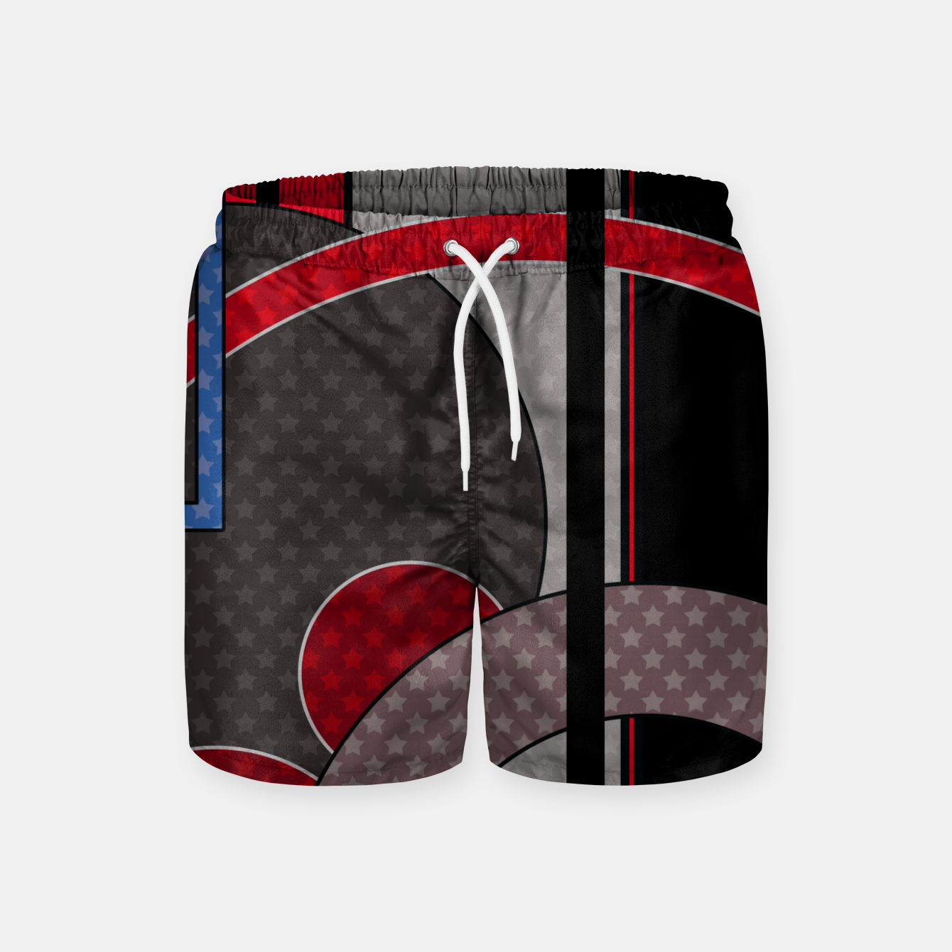 Image of Black and red abstract painting Swim Shorts - Live Heroes