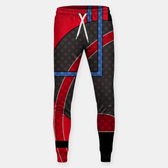 Thumbnail image of Black and red abstract painting Sweatpants, Live Heroes