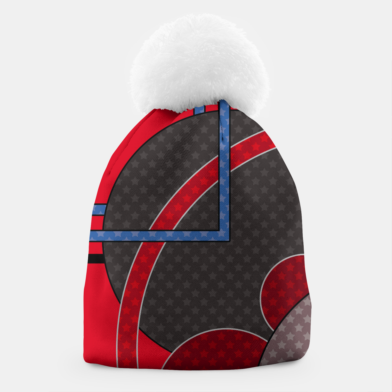 Image of Black and red abstract painting Beanie - Live Heroes