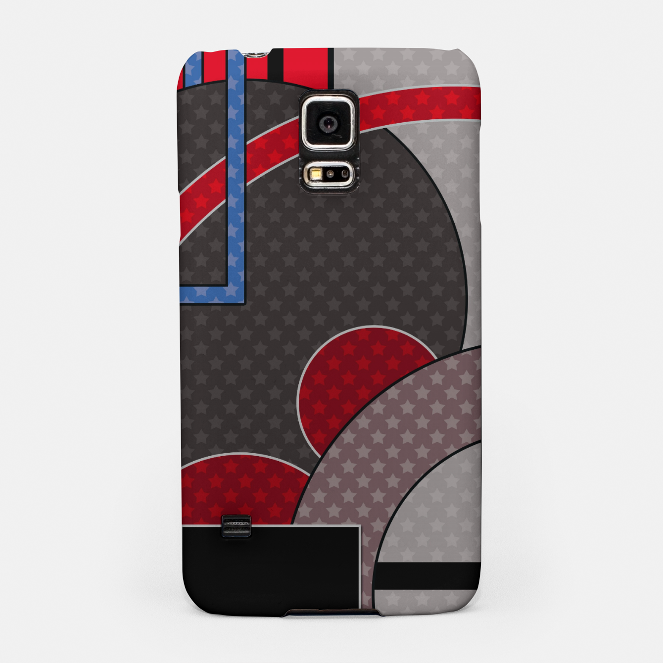 Image of Black and red abstract painting Samsung Case - Live Heroes