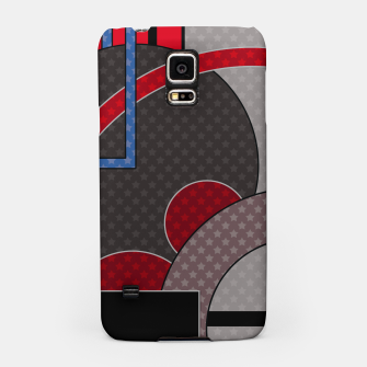 Thumbnail image of Black and red abstract painting Samsung Case, Live Heroes