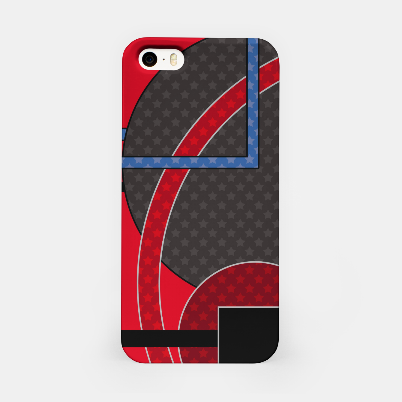 Image of Black and red abstract painting iPhone Case - Live Heroes