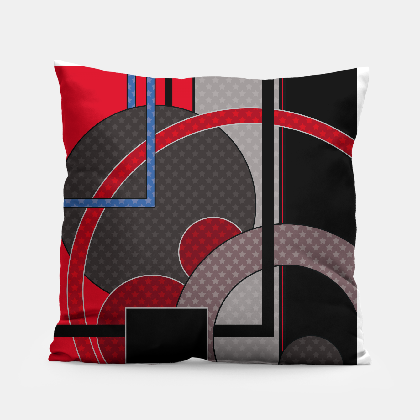 Image of Black and red abstract painting Pillow - Live Heroes