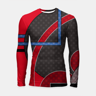 Thumbnail image of Black and red abstract painting Longsleeve rashguard , Live Heroes