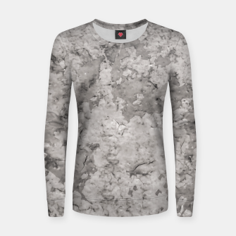 Thumbnail image of Grey Abstract Grunge Design Women sweater, Live Heroes