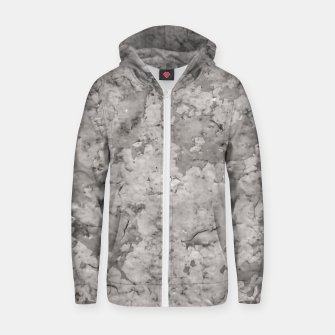 Thumbnail image of Grey Abstract Grunge Design Zip up hoodie, Live Heroes