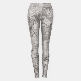 Thumbnail image of Grey Abstract Grunge Design Leggings, Live Heroes