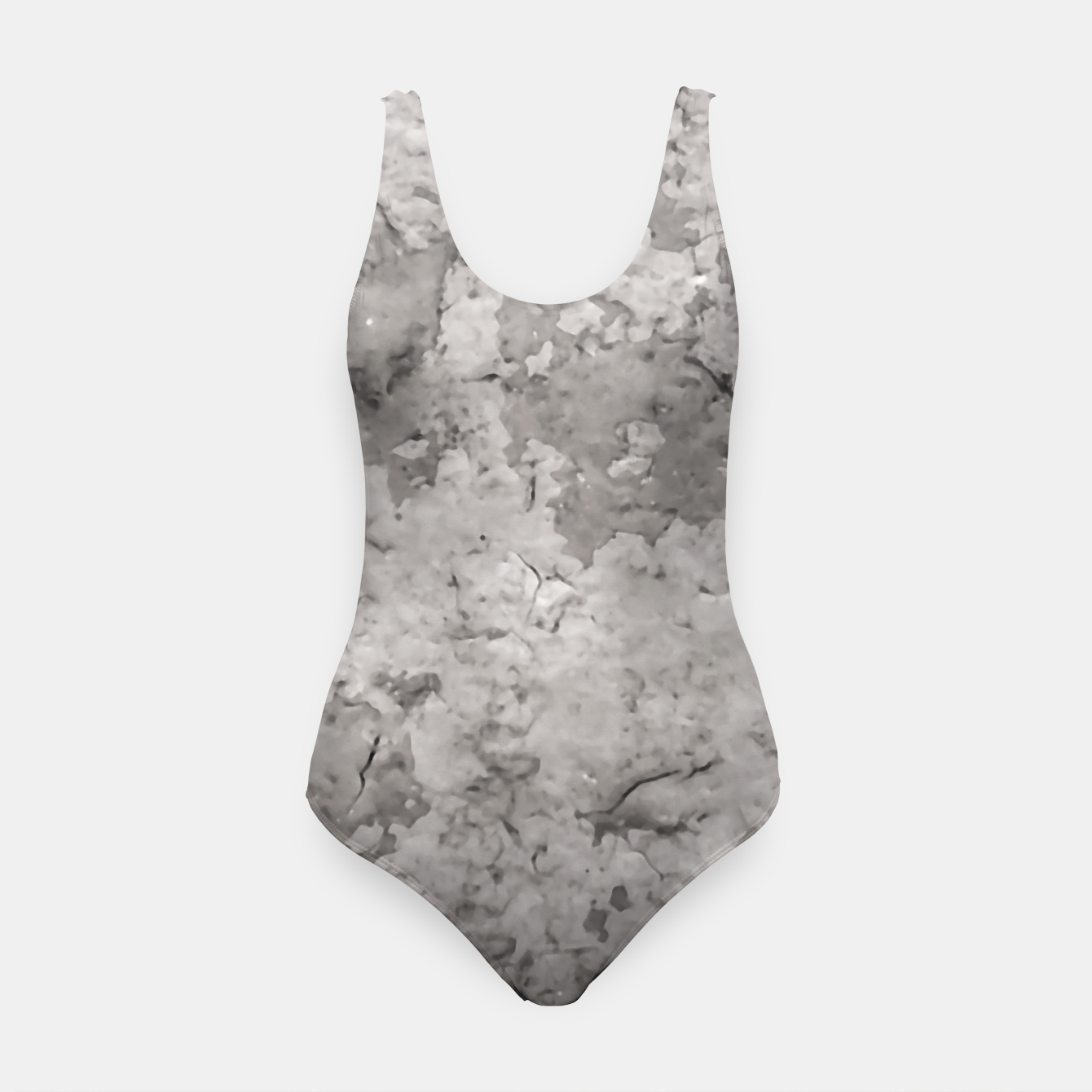 Image of Grey Abstract Grunge Design Swimsuit - Live Heroes