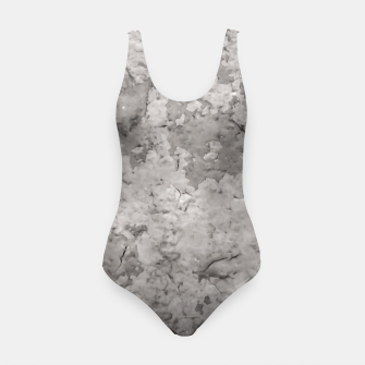 Thumbnail image of Grey Abstract Grunge Design Swimsuit, Live Heroes