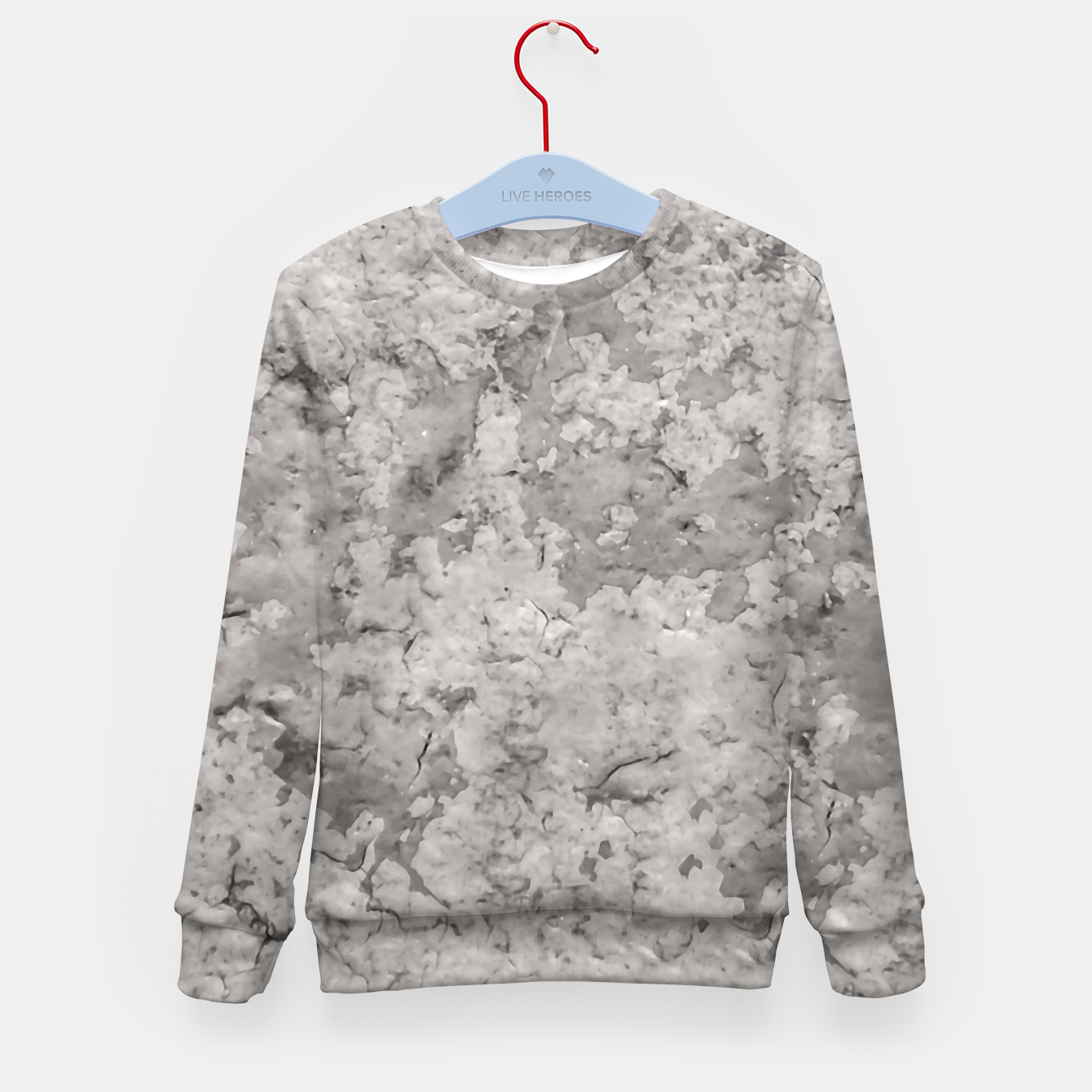 Image of Grey Abstract Grunge Design Kid's sweater - Live Heroes