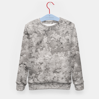 Thumbnail image of Grey Abstract Grunge Design Kid's sweater, Live Heroes