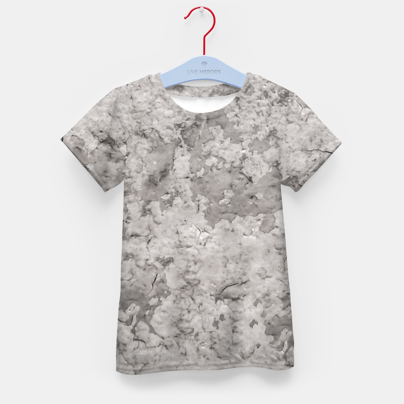 Image of Grey Abstract Grunge Design Kid's t-shirt - Live Heroes