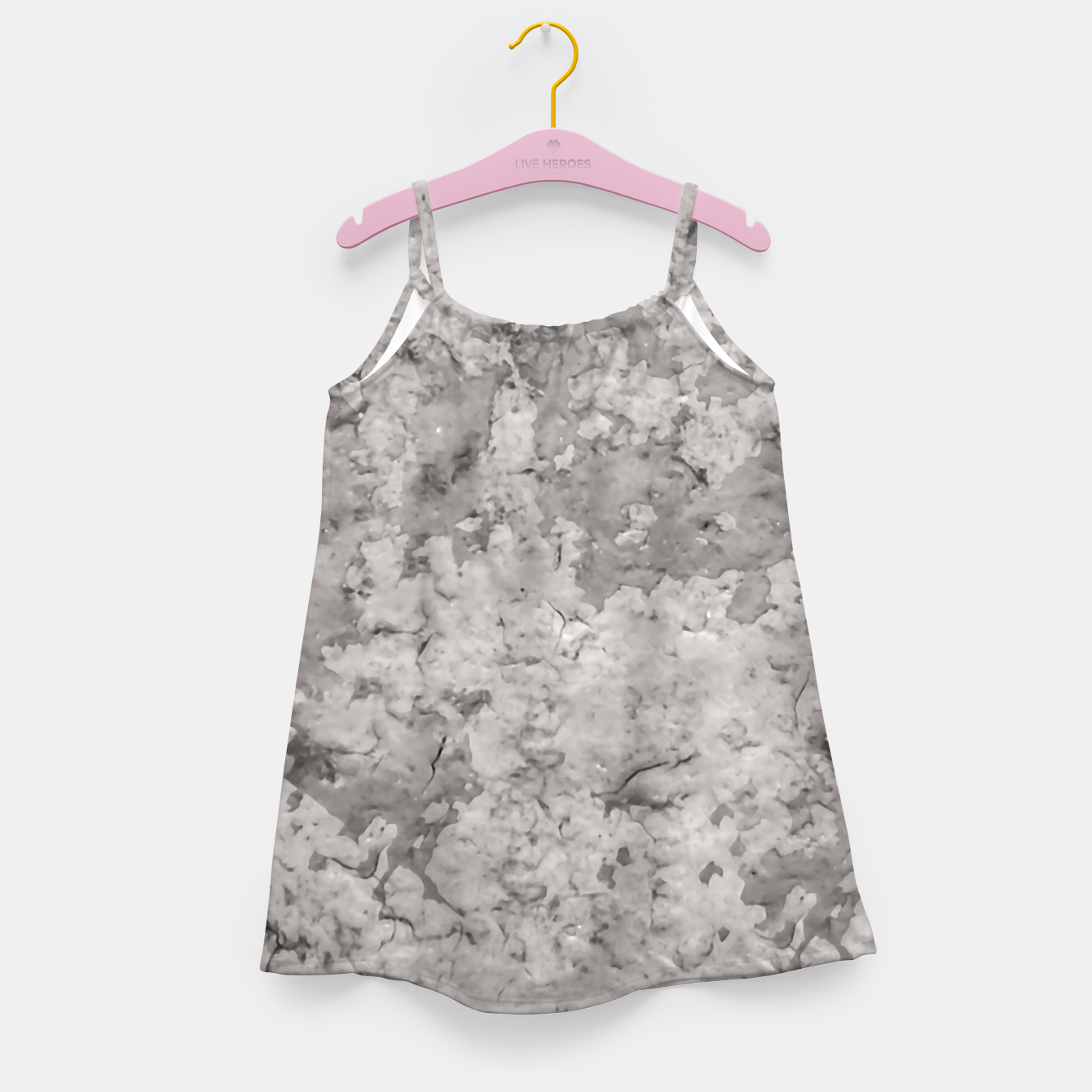 Image of Grey Abstract Grunge Design Girl's dress - Live Heroes