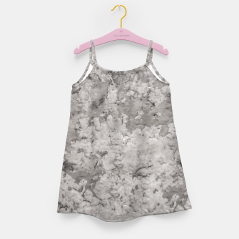 Thumbnail image of Grey Abstract Grunge Design Girl's dress, Live Heroes