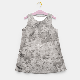 Thumbnail image of Grey Abstract Grunge Design Girl's summer dress, Live Heroes