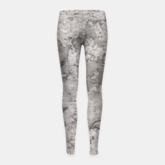 Thumbnail image of Grey Abstract Grunge Design Girl's leggings, Live Heroes