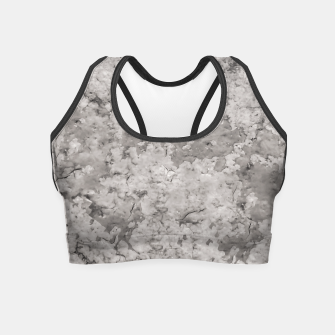 Thumbnail image of Grey Abstract Grunge Design Crop Top, Live Heroes