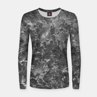 Thumbnail image of Dark Grey Abstract Grunge Design Women sweater, Live Heroes