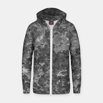 Thumbnail image of Dark Grey Abstract Grunge Design Zip up hoodie, Live Heroes