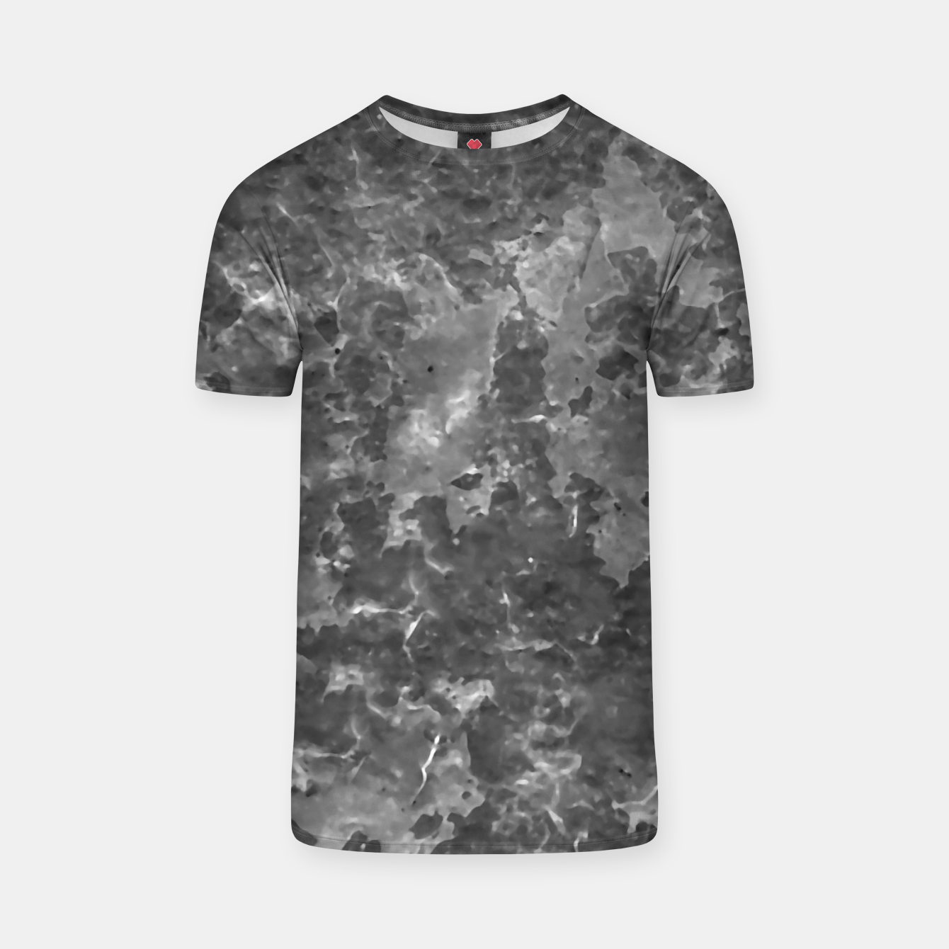 Image of Dark Grey Abstract Grunge Design T-shirt - Live Heroes