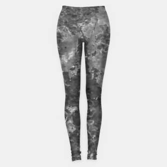 Thumbnail image of Dark Grey Abstract Grunge Design Leggings, Live Heroes