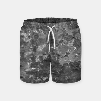 Thumbnail image of Dark Grey Abstract Grunge Design Swim Shorts, Live Heroes