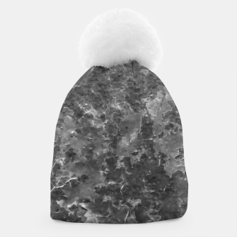 Thumbnail image of Dark Grey Abstract Grunge Design Beanie, Live Heroes